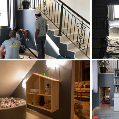 Handy Scandy creating an 'under the stairs' kids play room