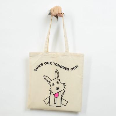Stylish bag with dog on it