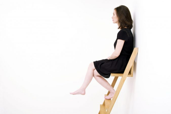 A person sitting in a chair