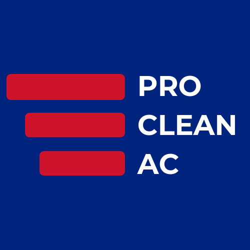 A close up of the Pro Clean AC logo