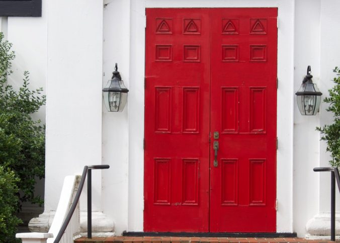 A house with a red door