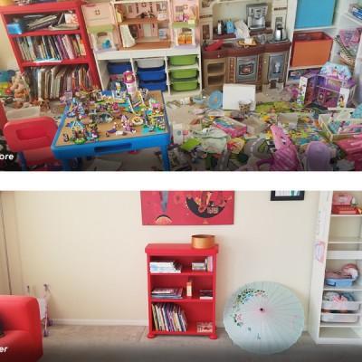 A red book shelf