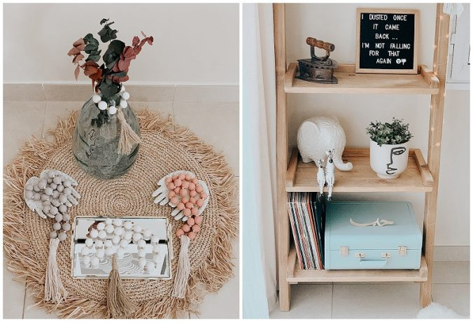A group of items on a shelf