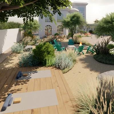 A sustainable garden in Dubai made by Wilden