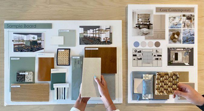 Interior design moodboard